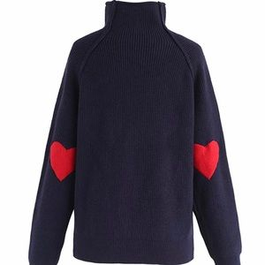 Chichwish Heart and Soul Patched Knit Sweater